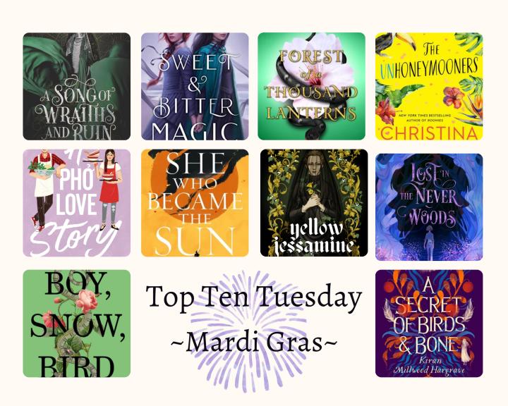 Top Ten Tuesday (MardiGras)